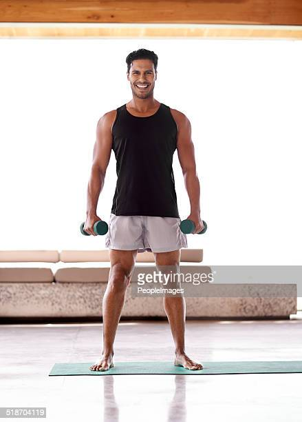 He's a fitness enthusiast