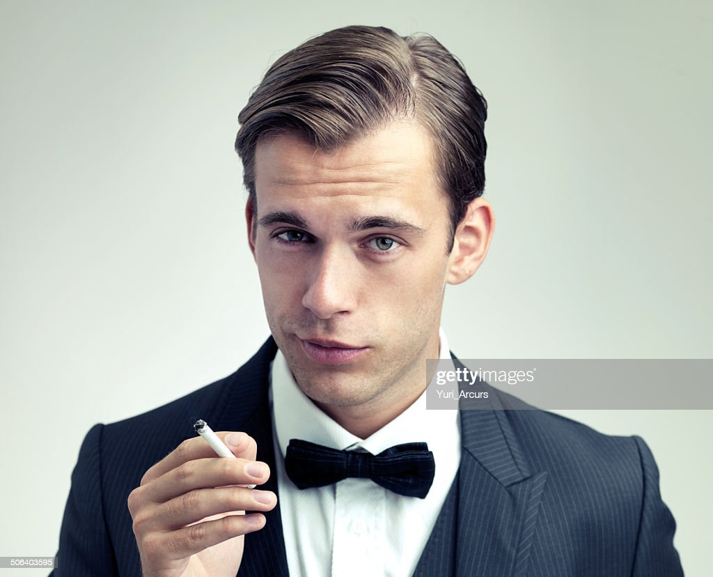 He's a man of sophistication : Stock Photo