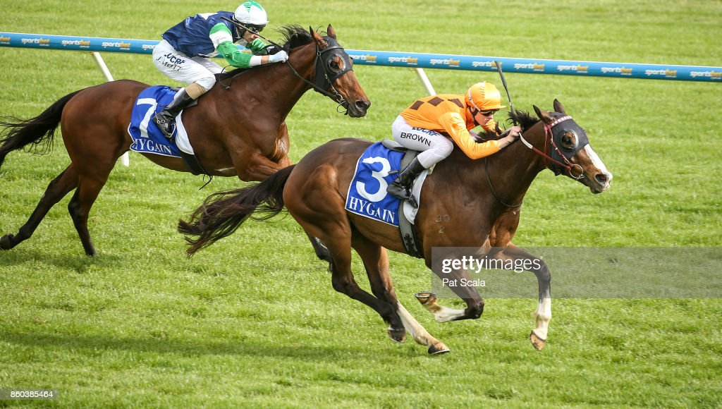 He's a Moral ridden by Ethan Brown wins the Hygain Winner Choice BM64 Handicap at Sportsbet-Ballarat Racecourse on October 12, 2017 in Ballarat, Australia.
