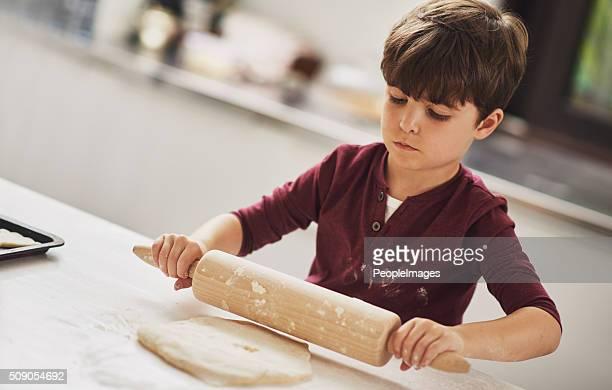 He;s a natural born baker!