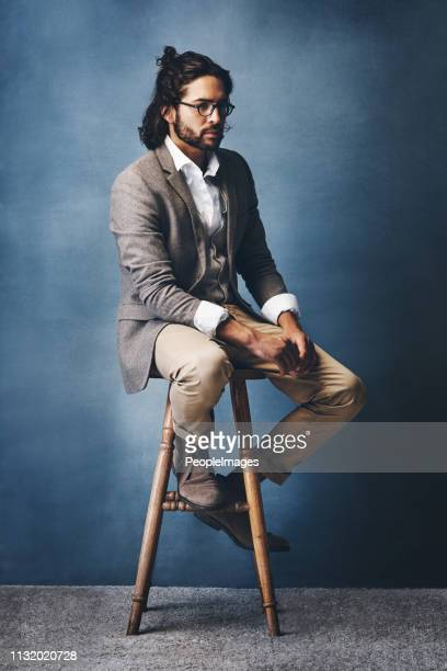 he's a natural trendsetter - man bun stock pictures, royalty-free photos & images