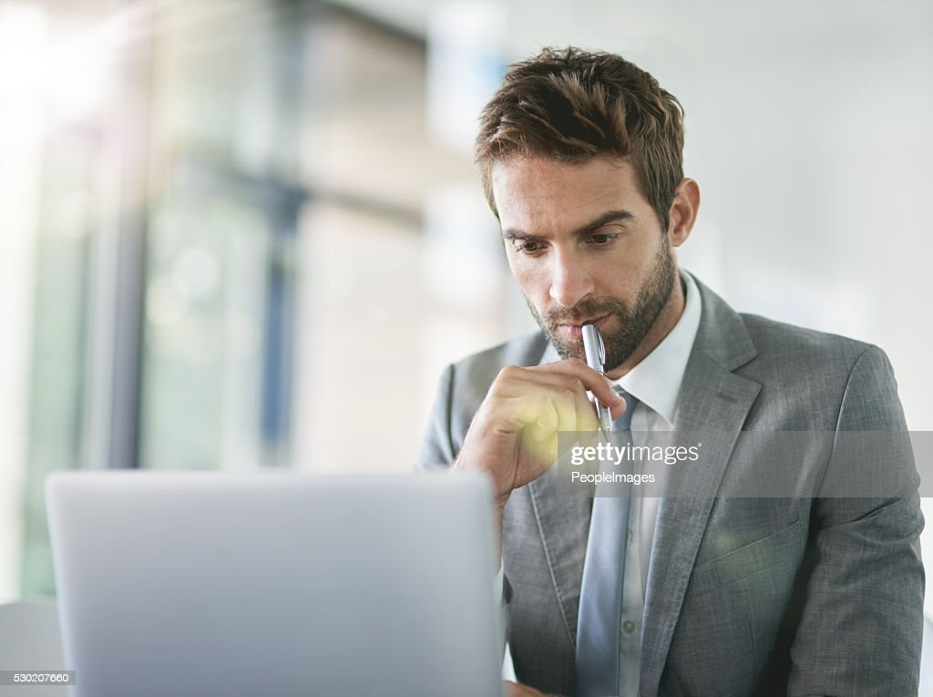 He's a problem solver in business : Stock Photo