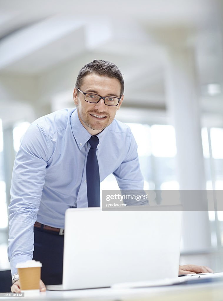 He's a proud corporate professional : Stock Photo