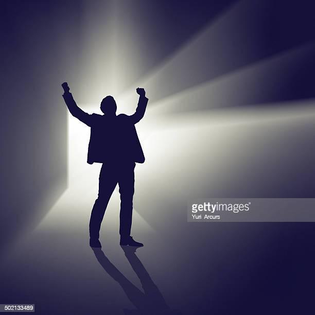 彼の輝く succes