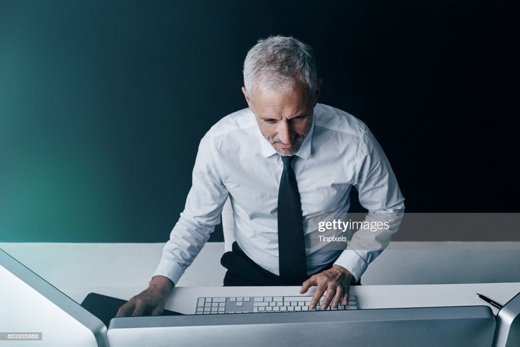 He's a tech-savvy executive : Stock Photo