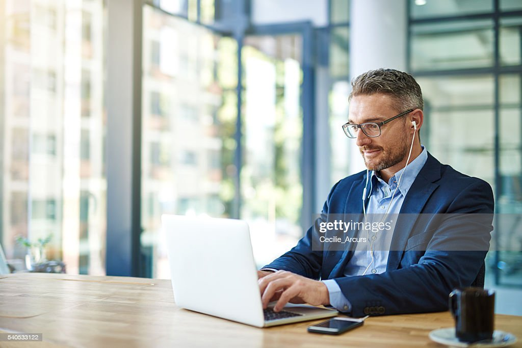He's all about productivity and profitability : Stock Photo