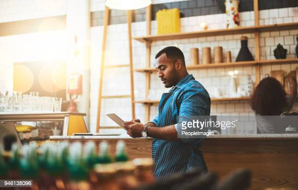 he's always making little tweaks to the business model - restaurant stock photos and pictures