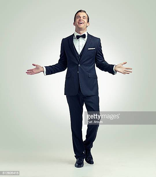 he's arrived - bow tie stock pictures, royalty-free photos & images