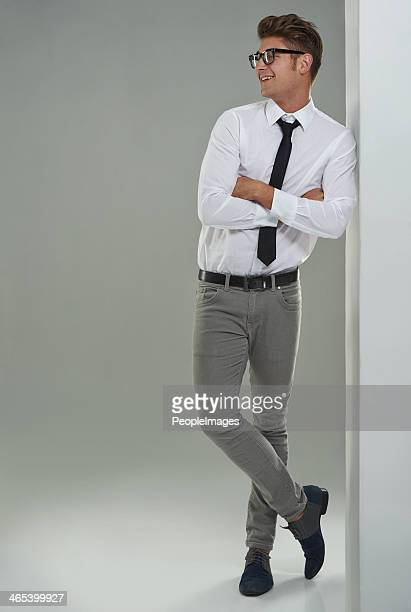 he's got a geeky charm - smart casual stock pictures, royalty-free photos & images