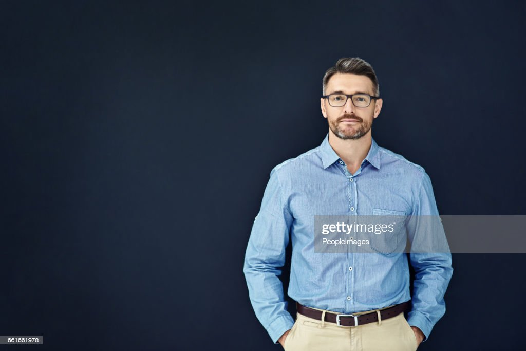 He's got a relaxed management style : Stock Photo