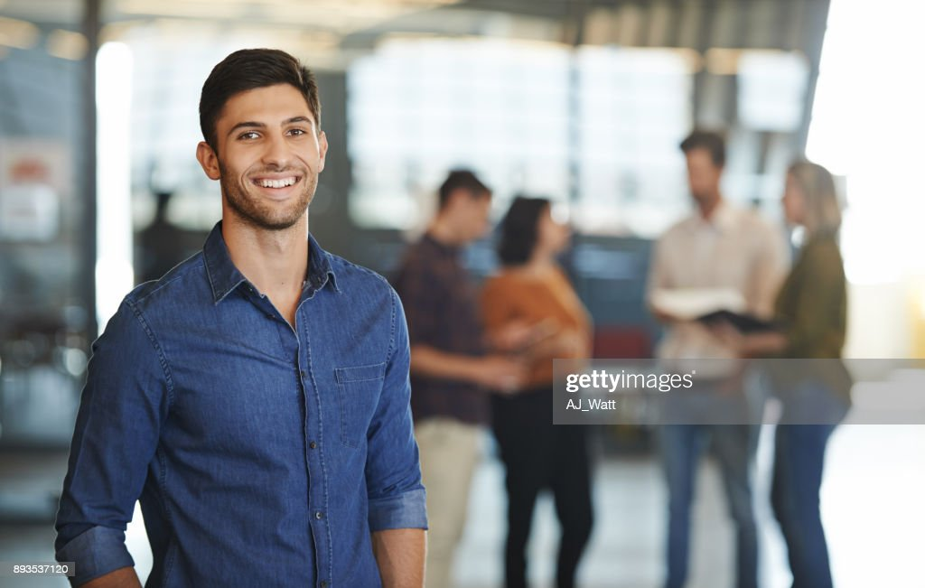 He's got exceptional creative talents to boast : Stock Photo