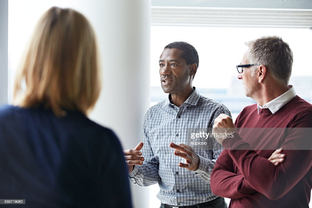 He's got some important points to add : Stock Photo