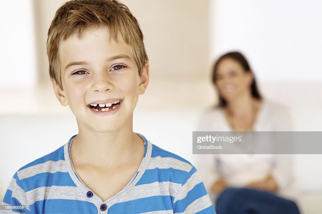 He's had such a wonderful upbringing : Stock Photo