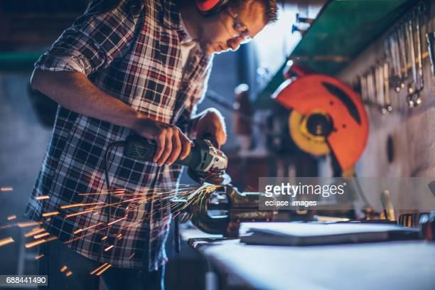 He's happiest in his workshop