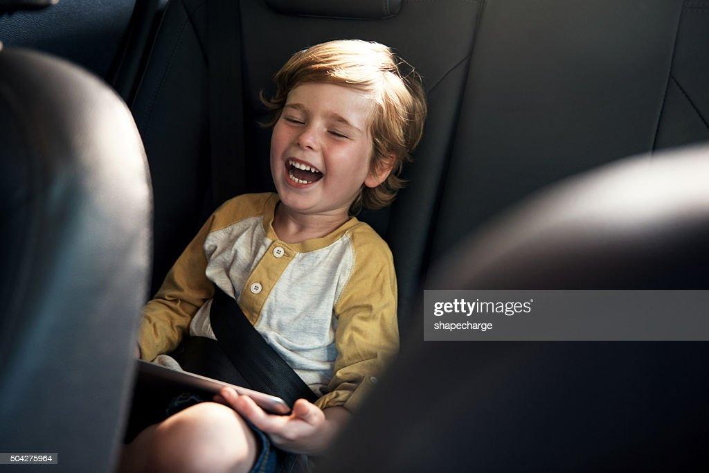 He's having a laugh : Stock Photo
