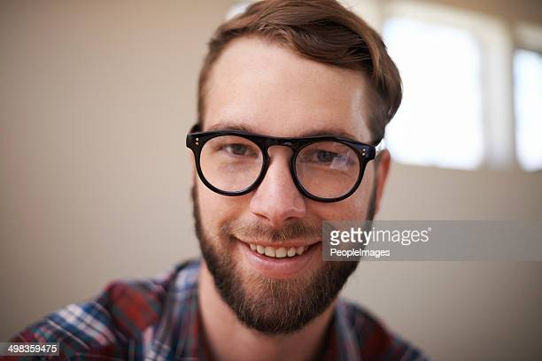 he's hip and handsome - thick rimmed spectacles stock photos and pictures