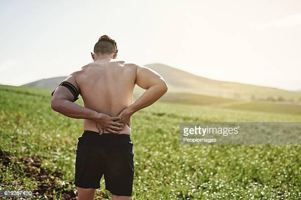 He's hurt his back