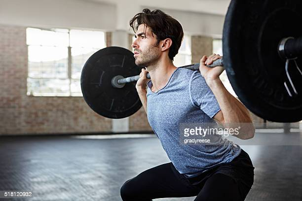 he's in great form for his lift - hurken stockfoto's en -beelden