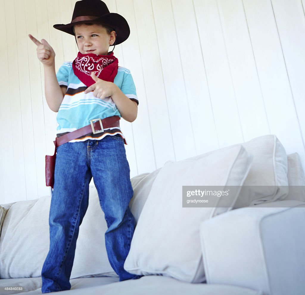 He's king of the west! : Stock Photo