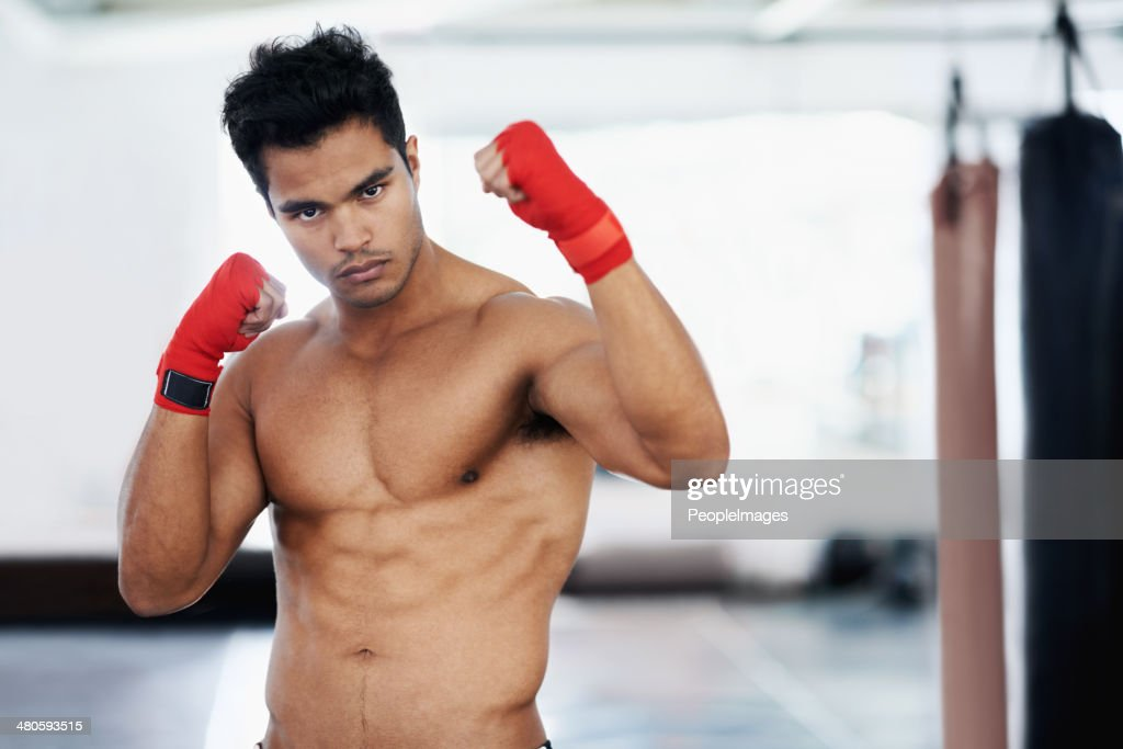 He's lean and mean! : Stock Photo