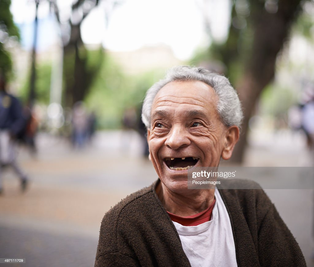 He's lived quite the life : Stock Photo