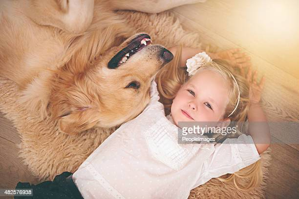 he's my home dog - hairy girl stock pictures, royalty-free photos & images