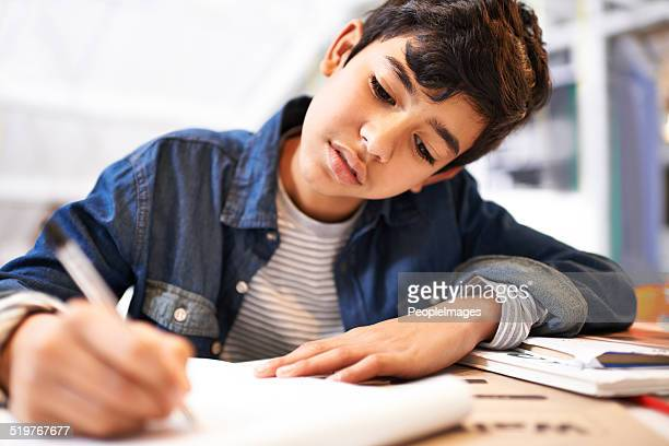 he's one dedicated kid - homeschool stock photos and pictures