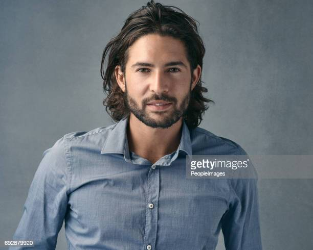 he's one good-looking fella - long hair stock pictures, royalty-free photos & images
