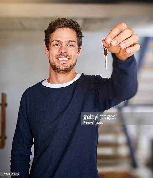 He's one proud homeowner
