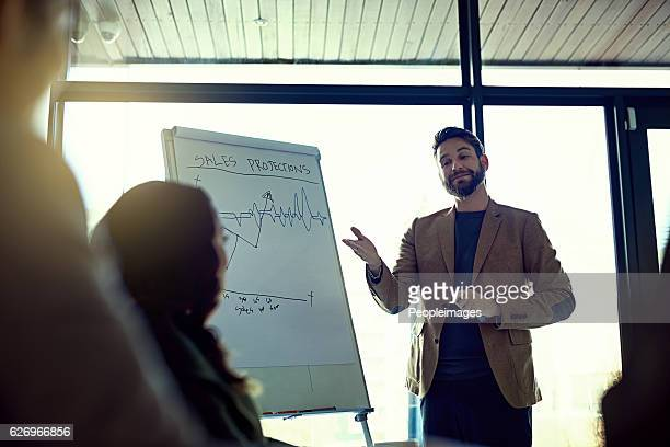 he's proud to have the best team in the business - presenter stock photos and pictures