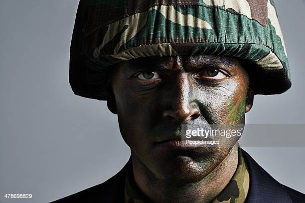 he's ready for war - camouflage clothing stock pictures, royalty-free photos & images