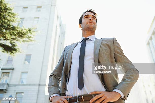 he's ready to conquer wall street! - hand on hip stock pictures, royalty-free photos & images