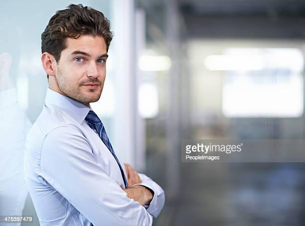 Er ist bereit für das Geschäft world