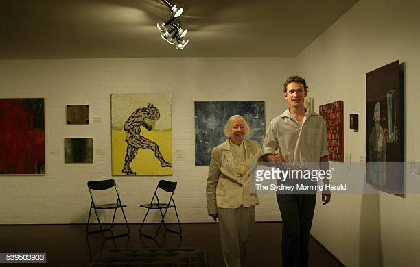 He's right on the money Alan Jones celebrates with Brett Whiteley's mother Beryl after winning the travelling scholarship 7 October 2004 SMH NEWS...