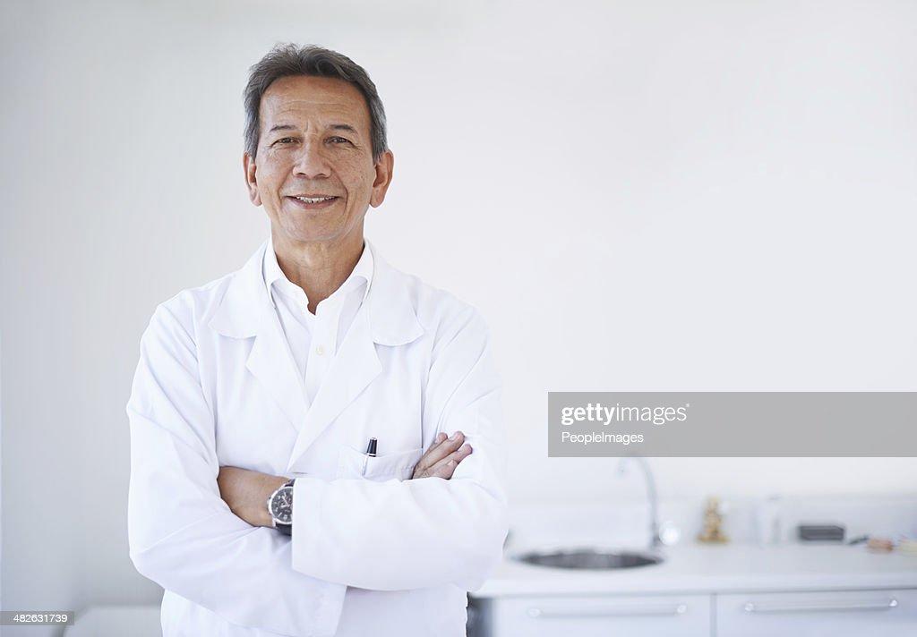 Er ist das beste Zahnarzt, die du stellen könntest für : Stock-Foto