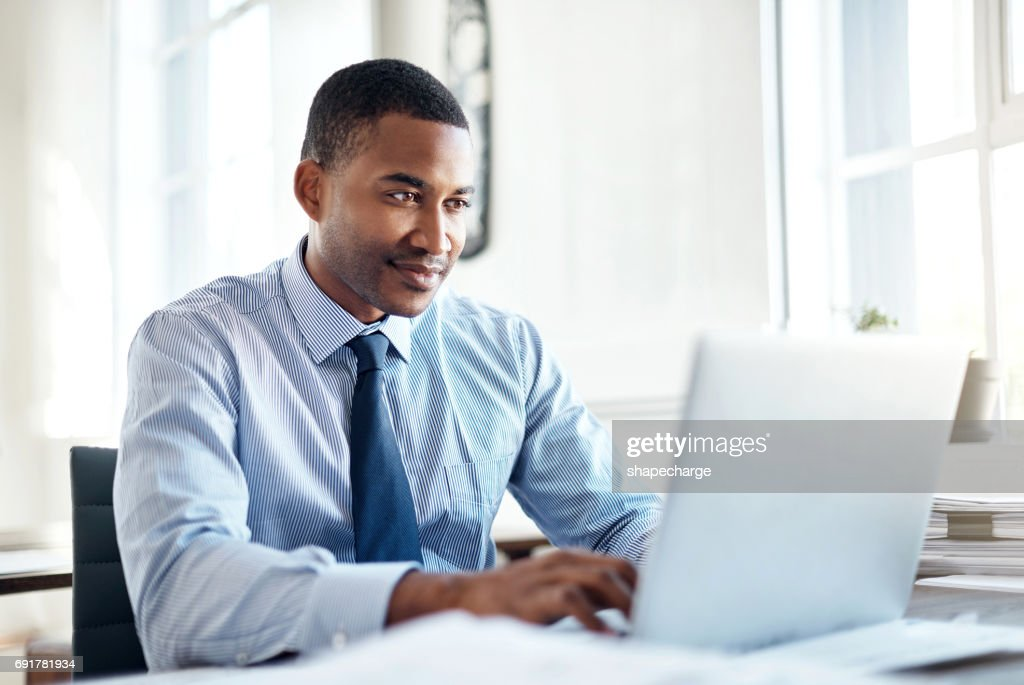 He's the best when it comes to business : Stock Photo