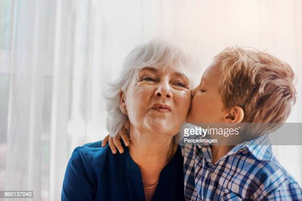 he's the sweetest little boy - grandmother stock pictures, royalty-free photos & images