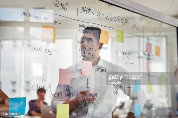 er ist der typ, dem nie die ideen ausgehen - design stock-fotos und bilder
