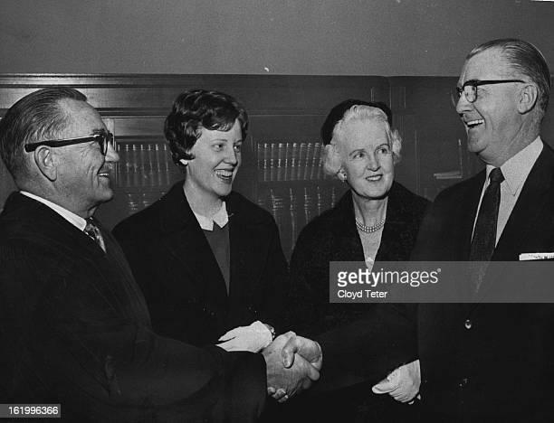 NOV 16 1961 He's Their Favorite District Judge Judge Don D Bowman Mary McAuliffe 19 Mrs Susan McAuliffe Dist Judge Gerald E McAuliffe