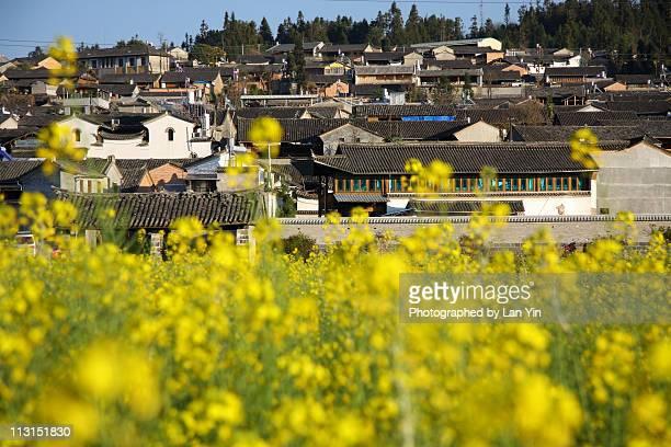 heshun town - provinz yunnan stock-fotos und bilder