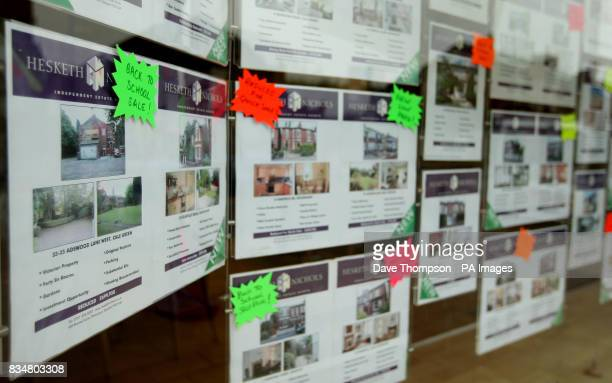Hesketh Nichols Estate Agents in Stockport who are advertising a 'Back To School Sale' in their shop window with many properties reduced from their...