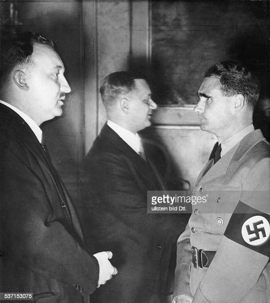 Hess, Rudolf - Politician, NSDAP, Germany , - with Professor Walter Frank, President of the 'Reichsinstituts fuer Geschichte des neuen Deutschland'...
