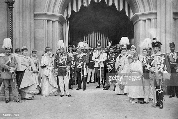 HesseDarmstadt Ernst Ludwig von Germany*25111868 Grand Duke 18921918 m man wears a 'KuerassierUniform' during his wedding with ViktoriaMelita...