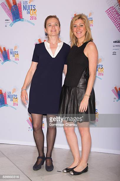 Hester Overmars and Amanda Sthers attend the 'Les Nuits En Or 2016' at UNESCO on June 13 2016 in Paris France