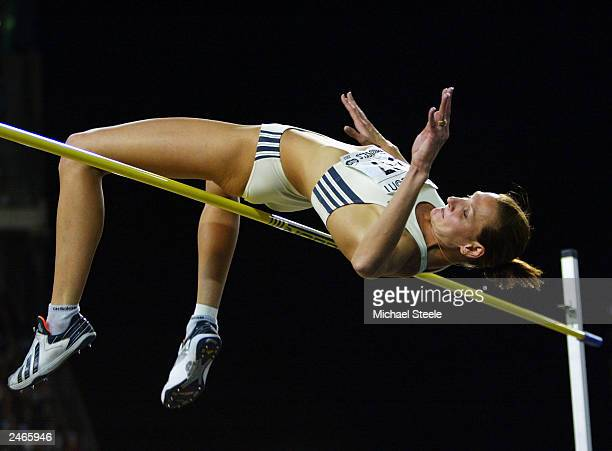 Hestie Cloete of South Africa clears the winning height in the Womens High Jump at the Van Damme Memorial IAAF Golden League meeting at The Koning...