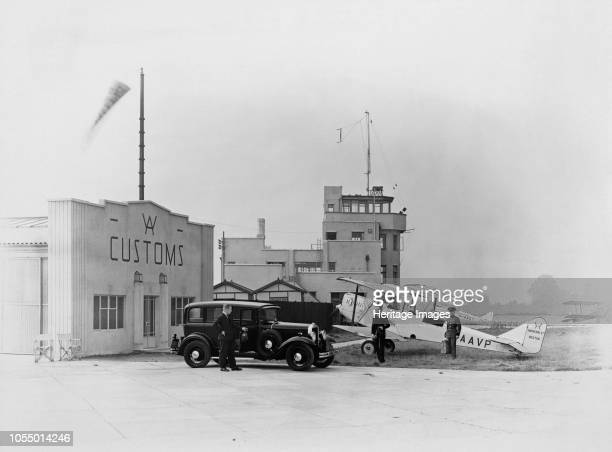 Heston Aerodrome Hounslow Middlesex circa 1930s The control tower may have been the first purposebuilt example and became the model for this class of...