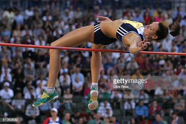 Hestrie Cloete competes in the Women's High Jump at the IAAF Golden League Meet on September 3, 2004 in the Roi Baudouin Stadium in Brussels, Belgium.