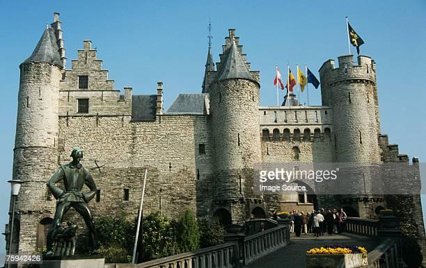 het steen antwerp - antwerp city belgium stock pictures, royalty-free photos & images