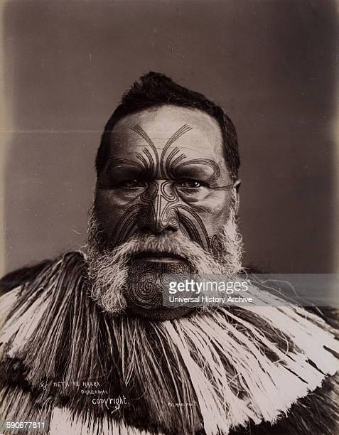 Heta Te Haara Ohaeawai photograophed in New Zealnd 1880