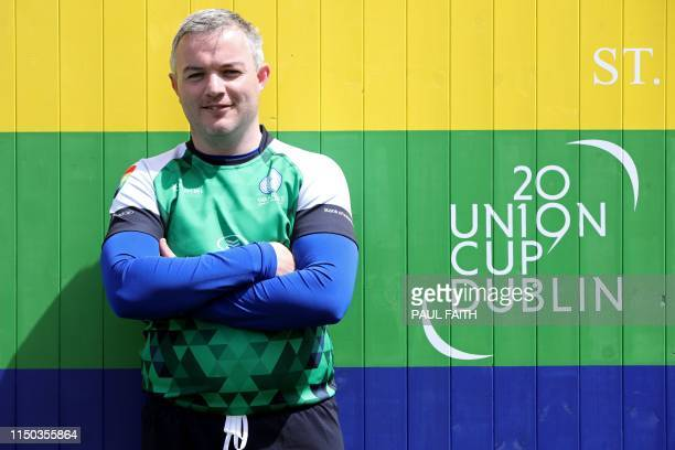 Heterosexual player David Revins of the Emerald Warriors poses for a photograph at the Union Cup Europe's biggest LGBT inclusive rugby tournament in...